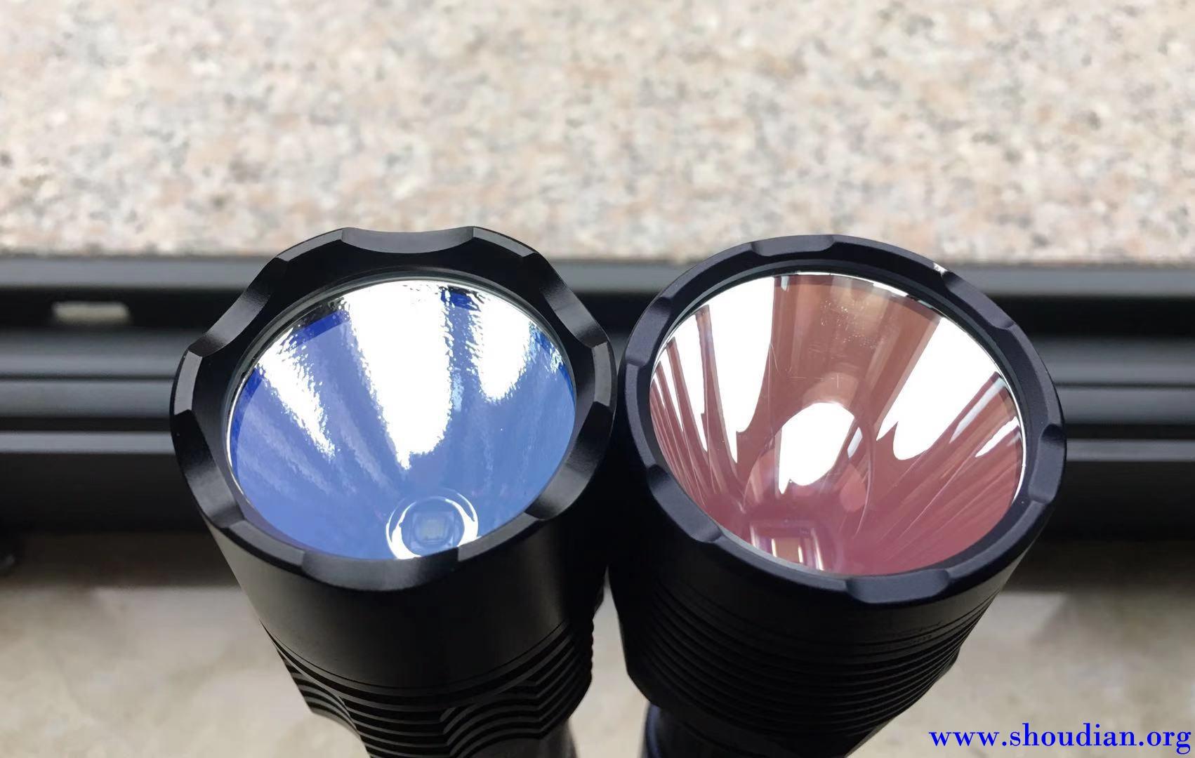 两个颜色的镀膜镜片,和大哥SBT90对比下